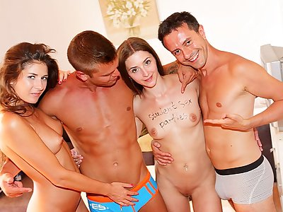 Staggering academy coitus gang hard by intensely